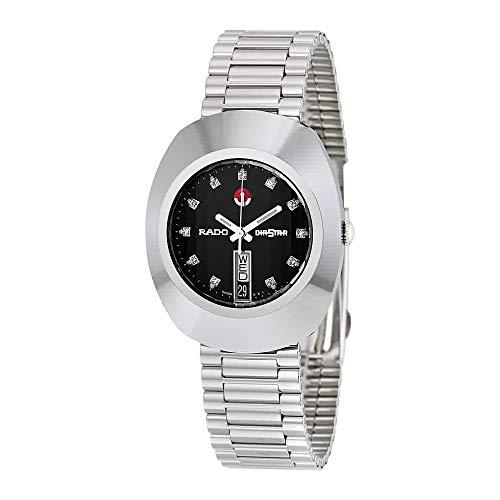 Rado Diastar Jubile Negro Dial Automático Mens Reloj R12408613