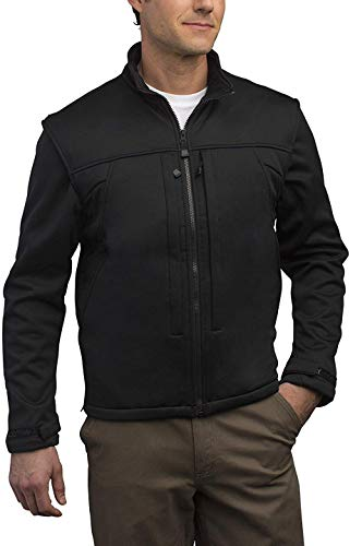 SCOTTeVEST Enforcer Concealed Carry Jacket for Men - Convertible Tactical Vest M Black