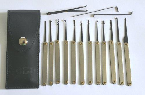 Walker Locksmiths - Juego de ganzúas (15 unidades, estuche y guía de uso [en inglés]): Amazon.es: Bricolaje y herramientas