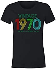 6TN Camiseta Mujer Vintage 1970 Envejecido a la Perfección