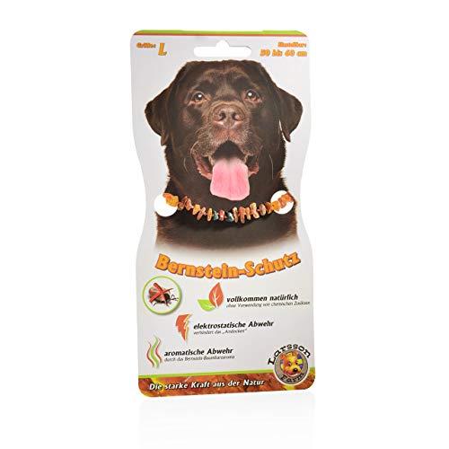 Larsson ® | Bernsteinkette | Malachit | Red-Jasper | 50-60 cm | Hunde | Katzen