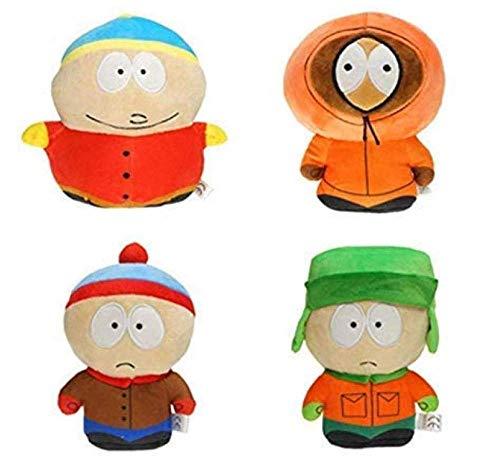 LINQ Plüschspielzeug Plüschtiere 4 stücke 18-20 cm Anime Die Südparks Stan Kyle Kenny Cartman Gefüllte Plüsch Puppe Kinder Geschenk Spielzeug Qianmianyuan