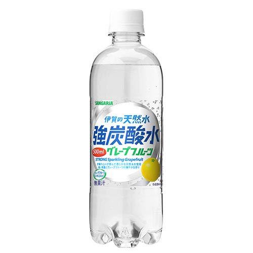 サンガリア 伊賀の天然水 強炭酸水 グレープフルーツ 500mlペットボトル×24本入×(2ケース)