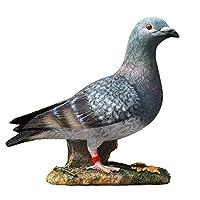 シミュレーション動物モデル庭の彫像と置物動物かわいい鳩樹脂屋外彫刻装飾パティオヤード芝生の家の装飾,グレー