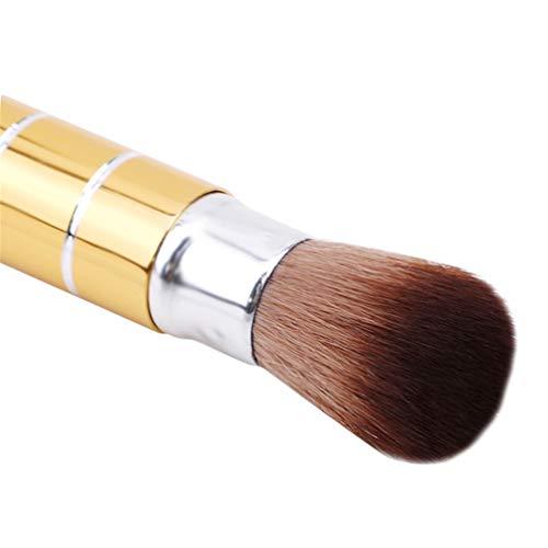 Mvude Pinceau de Maquillage pour Fond de Teint en Poudre Liquide Portable Kabuki Brush,d'or