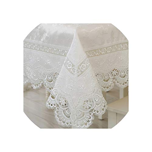 See Something Home Textiles Elegant Lace Tablecloths Peacock Jacquard Wedding Table Linen Cloth Covers Decoration Towels,85x85cm