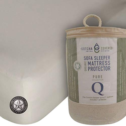 American Leather Comfort Sleeper 100% Organic Sofa Sleeper Mattress Protector - Queen Size