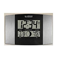 La Crosse Technology WS-8117U-IT-AL Atomic Wall Clock with IndoorOutdoor Temperature