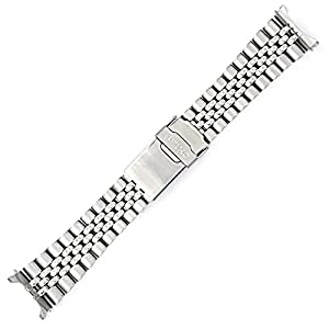Fashion Shopping Seiko 22mm Jubilee Watch Band – Stainless Steel- for Models Diver SKX007, SKX009, SKX171, SKX173, SKX175, SKX175 Cal…