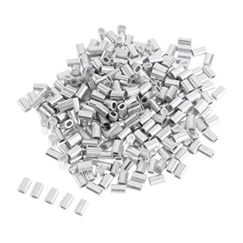 IPOTCH 100 TLG Sicherheits Quetschhülsen Crimphülsen Klemmhülsen in 4 Verschiedene Größe - 1 mm
