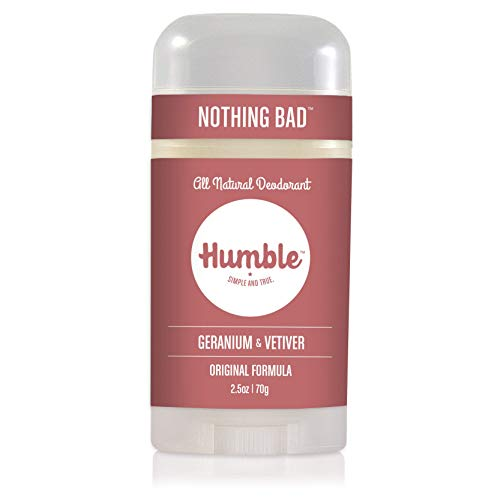 Humble Brands All Natural Aluminum Free Deodorant Stick for Women and Men Lasts All Day Safe and Certified Cruelty Free Geranium and Vetiver Pack of 1