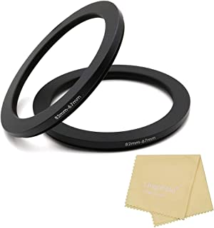 82 to 67mm Metal Step Rings with Lens Cleaning Cloth, 82mm to 67mm Step Down Ring Filter Ring Adapter for 82mm Camera Lens...