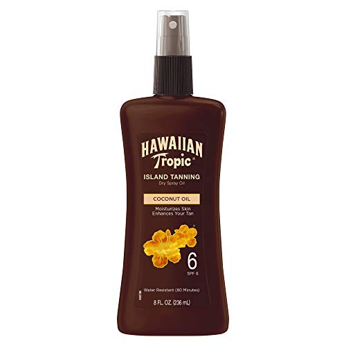 Hawaiian Tropic Dark Tanning Oil, Spray Pump, SPF 6 8 oz (packaging may vary)