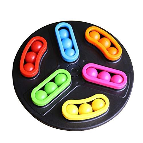 Gazaar Juguete de disco giratorio de frijoles, juguetes educativos para el desarrollo del cerebro duradero, alivio del estrés, descompresión de ventilación, juguete para niños