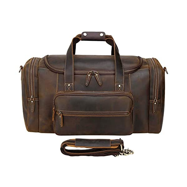 Full Grain Cowhide Leather Gym Duffle front