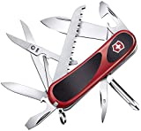 Victorinox Taschenmesser Evolution 18 (15 Funktionen, Ergonomisch, Klinge, Nagelfeile) rot/schwarz