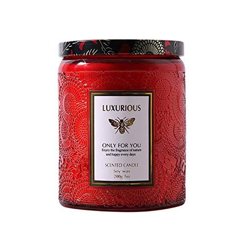 TYXQ Velas perfumadas Cera de Soja Natural Nervios calmantes Decoraciã³n del hogar Velas de Aromaterapia Cera naturalmente Pura y aceites Velas