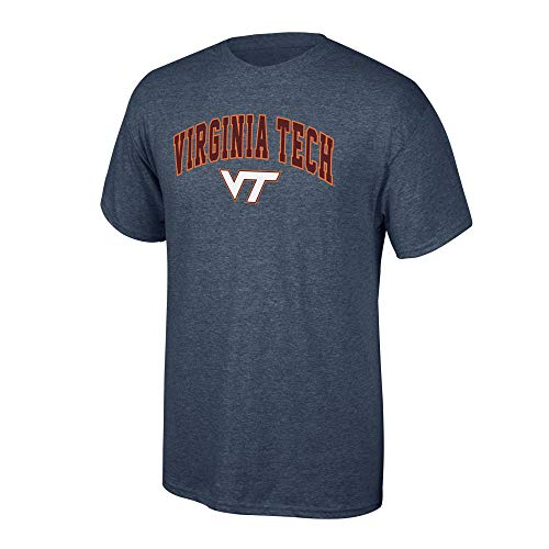 Elite Fan Shop Virginia Tech Hokies Men's T Shirt Dark Heather Arch, Medium