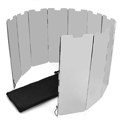 Ardisle-10placas Plegable Camping Picnic Estufa de Gas Cocina Wind Shield Protector de Plata Camping Cocina Bloqueador de Parabrisas