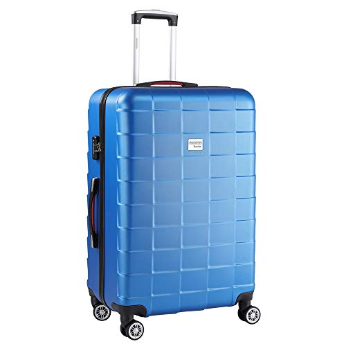 Monzana Hartschale Trolley Koffer | Größe XL | TSA Schloss | Zwillingsrollen | Blau | Reisekoffer Rollkoffer