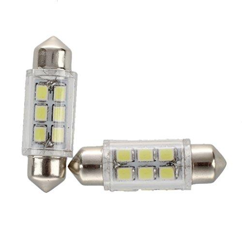 Alde - Lote de 2 bombillas LED SMD para coche, 5 W, 36 mm, 12 V
