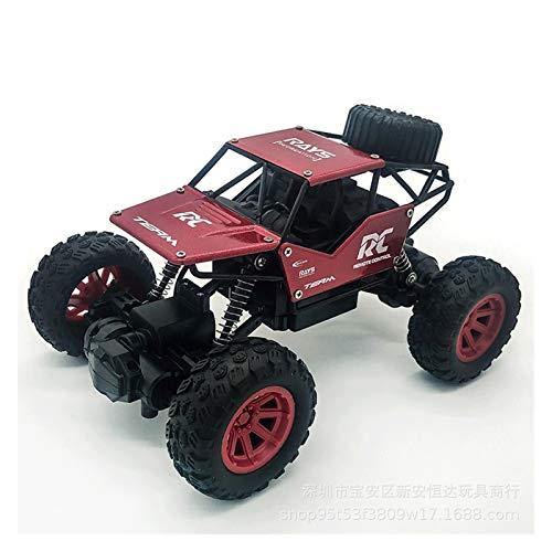 YYQIANG 1/18 Aleación de elevación de la aleación Control remoto de automóvil Modelo de juguete con control remoto para niños Vehículo de carretera Bigfoot Four-Way Rock Stimbing Coche Boy Electric To