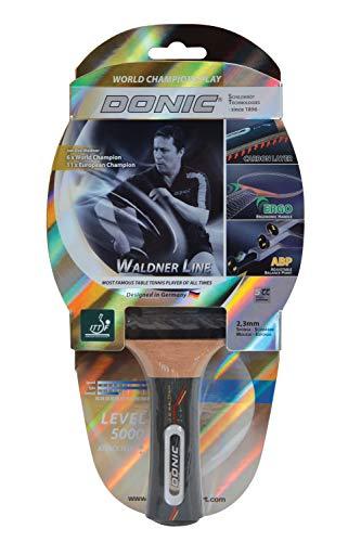 Donic-Schildkröt Tischtennisschläger Waldner 5000 ABP-Griff, 2,3 mm Schwamm Carbonholz, Liga-ITTF Belag, 751805