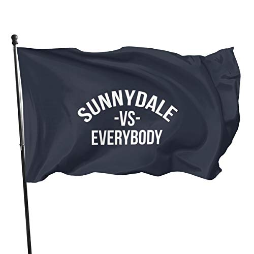 N/ Sunnydale Vs. Everybody Buffy The Vampire Slayer T-Shirt-Flagge, 91 x 152 cm