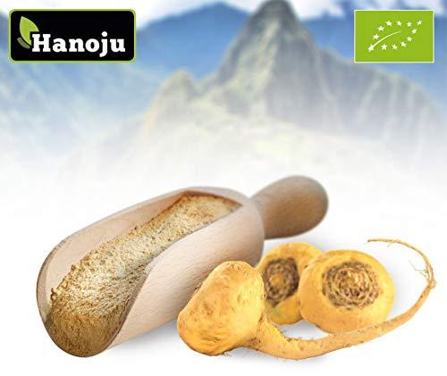 Hanoju Bio Maca Premium Pulver 1000 g | Laktose & Sojafrei | aus kontrolliert biologischem Anbau | 4:1