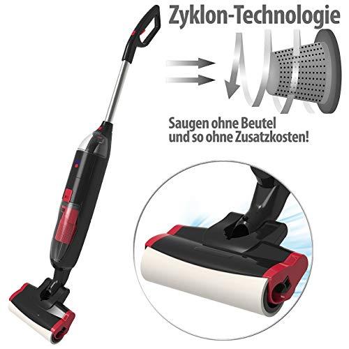 Sichler Haushaltsgeräte Staubsauger: Elektrischer Akku-Boden-Wisch-Sauger, Nass & Trocken, Zyklon, 200 Watt (Zyklonstaubsauger)