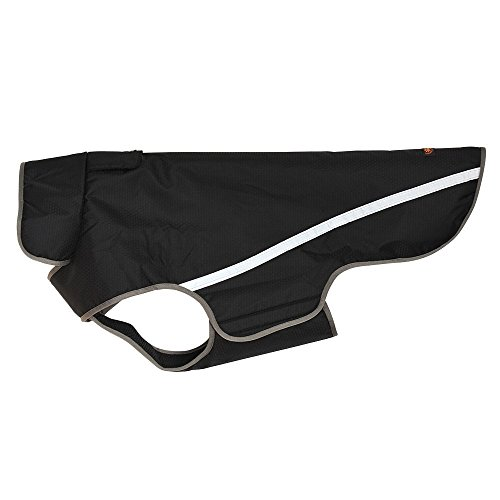 BLACKDOGGY - Chaleco impermeable reflectante para perro, color negro