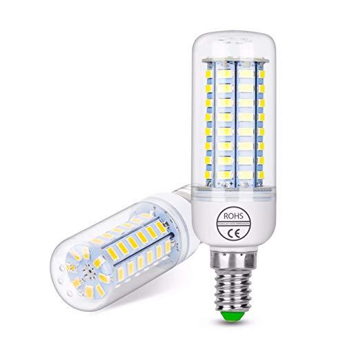 WELSUN Ampoule Maïs Décorative Blanc Chaud/Blanc Froid 5 pièces B E14 / E26/E27 8 W 72 SMD 5730 650 LM AC 100-240 V (Connector : E14, Light Source Color : Blanc Chaud)