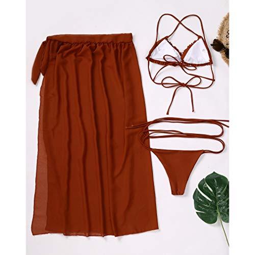 Timagebreze Sexy Bikini Swimsuit Women Bikini Skirt Swimwear Women 3 Piece Set Bathing Suit M