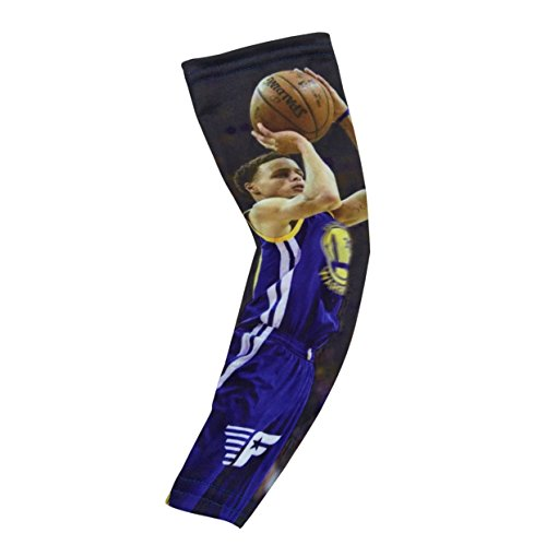 Forever Fanatics Golden State Curry #30 Picture Basketball Arm Sleeve Fan Compression Shooter Sleeves ? Muscle Recovery ? Improve Circulation (Youth Size (6-13 Years), Golden State Curry #30)