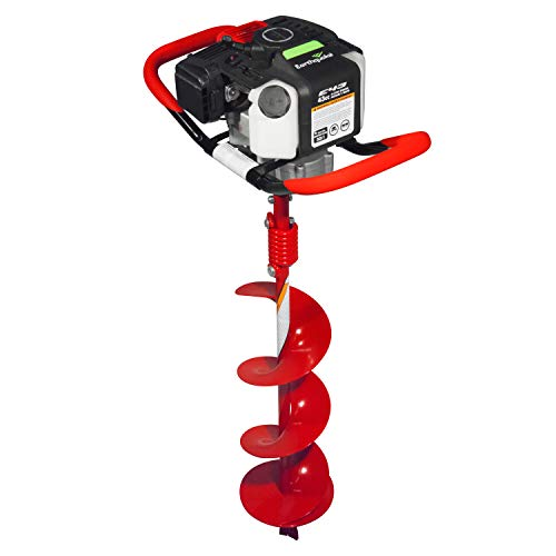 EARTHQUAKE 35064 Powerhead with 8 inch Auger Bit, 1-Man 43CC, Red
