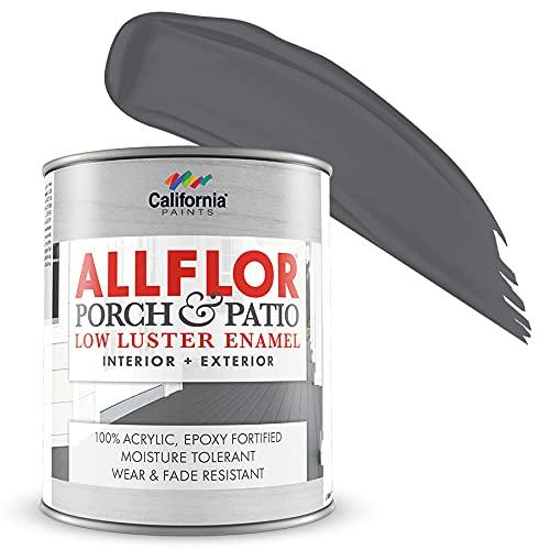 ALLFLOR California Paints Porch, Patio, Floor Paint (Quart, Battleship Gray)