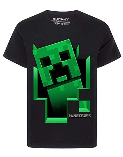 Minecraft Creeper Inside Schwarzes Kurzarm-T-Shirt für Jungen