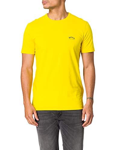 BOSS tee Curved 10213473 01 Camiseta, Amarillo Mediano: 726, M para Hombre
