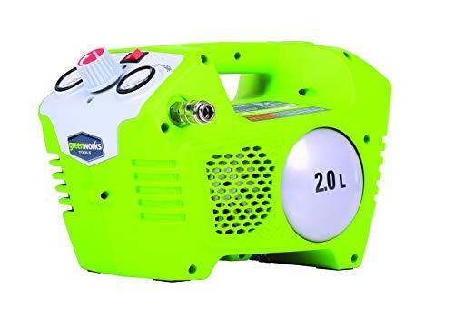 Greenworks - Compresor de aire a batería (40 V, 2 l, 8 bar)
