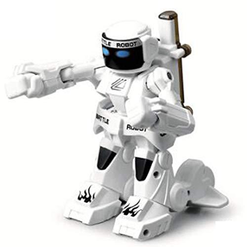 RC Batalla Boxeo Robot/Juguetes, A Distancia del Robot Humanoide Lucha Control 2.4G, Control De Dos Palancas De Mando Real Boxeo Lucha Experiencia,Blanco
