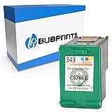 Bubprint Cartucho de Tinta Compatible para HP 343 HP343 para Deskjet 5900 5940 5950 6840 6940 6980 Officejet 100 150 Mobile 6300 6310 6315 H470 K7100 Color