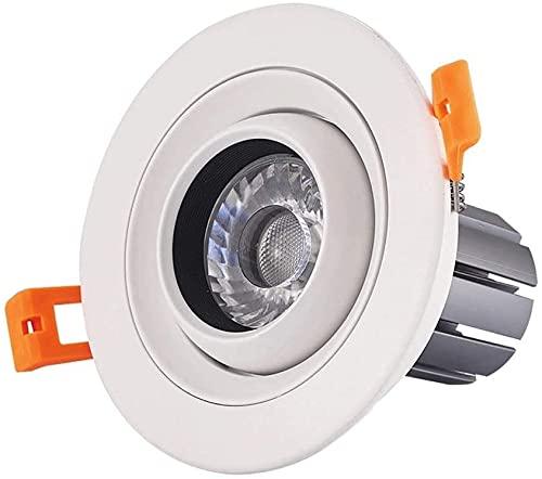 Rekaf Moderna simplicidad creativa 360 grados de foco giratorio ángulo ajustable Downlight integrado Lámparas planas integradas del techo direccional Luces de retrofit direccional Blanco, Conductor in