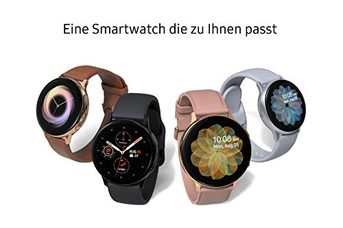 Samsung Galaxy Watch Active2 Explorer Edition, Fitnesstracker aus Aluminium, großes Display, ausdauernder Akku, wassergeschützt, 44 mm, inklusive 2x araree , LTE, Silber