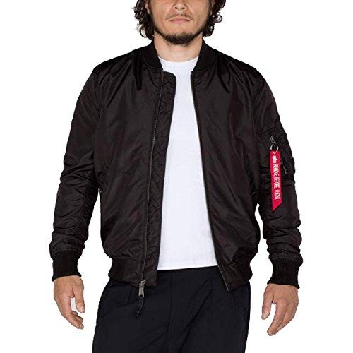Alpha Industries Hombre Chaqueta MA de 1TT Long-Black, Negro, Small