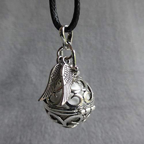cage argent/ée arabesques et navettes Bola de Grossesse avec chaine Bunga bille rose p/âle sequin rond gris et /étoile /évid/ée argent/ée PERSONNALISABLE