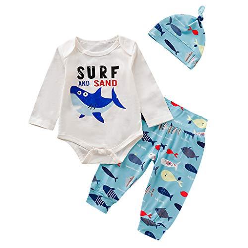 Julhold Peuter Kids Baby Jongens Meisjes Leuke Mode Cartoon Letter Print Katoen Losse Romper Tops Broek Hoed Outfits 0-24 Maanden