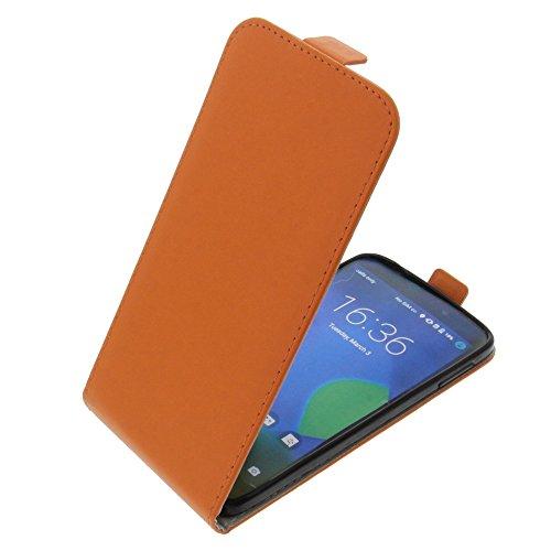 foto-kontor Tasche für Alcatel One Touch Idol 3 5.5 Smartphone Flipstyle Schutz Hülle orange