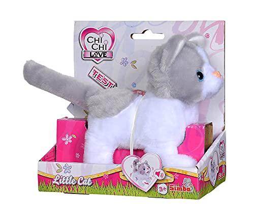 Simba 105893453 - ChiChi Love Little Cat, läuft und wackelt mit dem Schwanz, 15cm, Plüschkatze, mit Funktion, mit Sound, für Kinder ab 5 Jahren geeignet