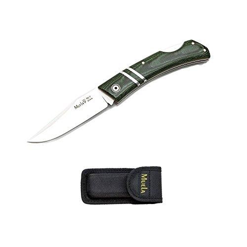 Serrure Couteau Pliant de chasse Muela ZX-8G poignée verte micarta poignée 10 cm 8 5 cm feuille Mova + carte cadeau multi-usages
