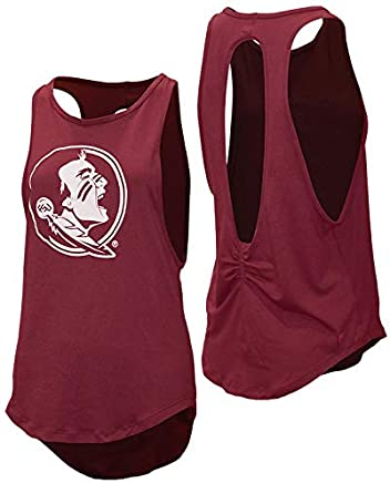 74cfd9e8e3611f Garnet & Gold Women's Open Back Tank with Seminole Head by Kadyluxe